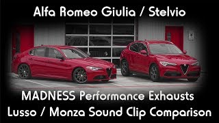 Alfa Romeo Giulia / Stelvio MADNESS Exhaust Systems Sound Comparison