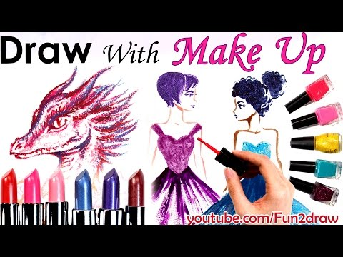 Art Challenge: draw with makeup!