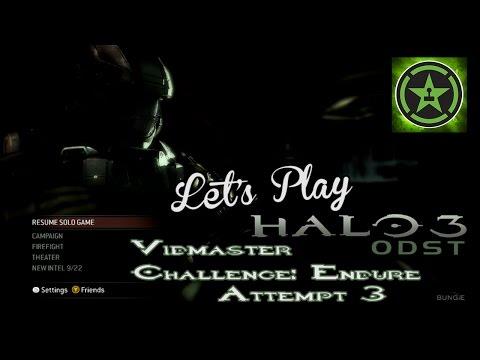 Let's Play: Halo 3 ODST (Vidmaster Challenge Endure) Attempt 3