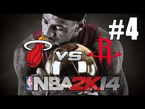 NBA 2K14: LeBron Path To Greatness / Heat Dynasty MIA Vs HOU
