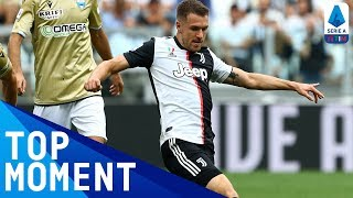 Berisha stunning save to keep out close-range header from Ramsey | Juventus 2-0 Spal | Serie A