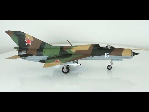 обзор масштабная модель № 26/66 авиация самолёт миг-21пф 1:72 Modelling aviation