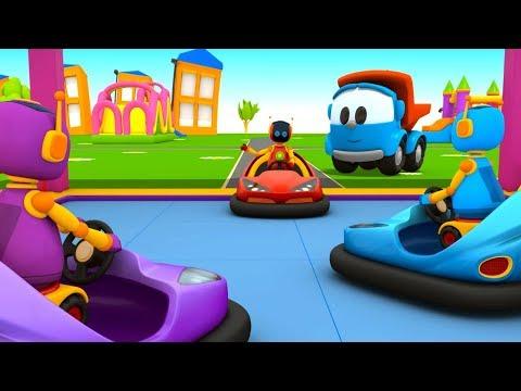 Грузовичок Лёва - машинки конструктор - Собираем бамперную машинку - Мультик для детей