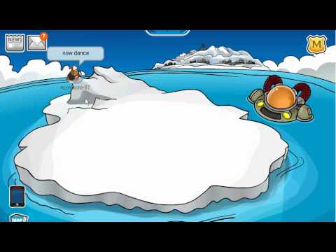 CLUB PENGUIN HOW TO TIP THE ICEBERG! ONLY ONE PERSON NEEDED! 2010!!!
