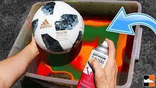 How To Hydro Dip a Football! (Soccer Ball) ??