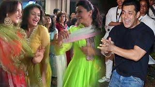 Salman Khan Dances With Elli Avram Daisy Shah Ganesh Visarjan Miraunuk 2015