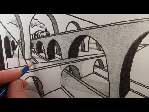 How To Draw A Bridge In Two Point Perspective Narrated