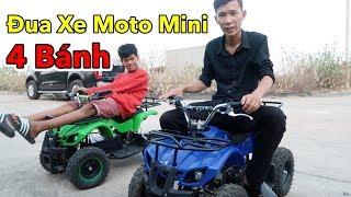 Lâm Vlog - Đua Xe Moto Mini 4 Bánh 50cc Chạy Xăng và Chạy Điện Giá 12 triệu