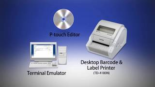 Print labels easily with P-touch Template tool of Brother Professional Label Printer