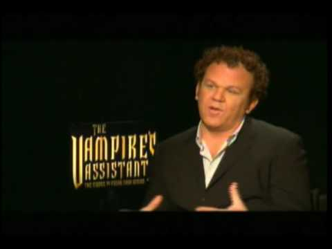Chris Massoglia, Salma Hayek and John C. Reilly Talk Cirque du Freak Video