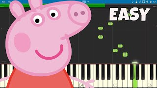 Peppa Pig Theme Song - EASY Piano Tutorial