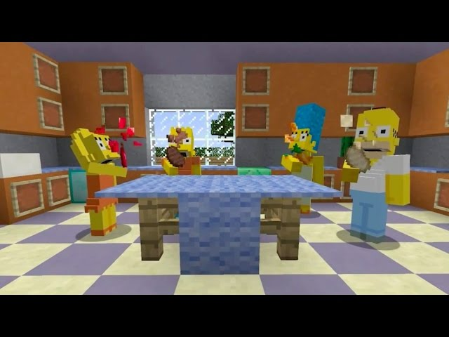 Minecraft The Simpsons Skin Pack Trailer