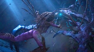 Kerrigan and Artanis Fight with Hybrid (Starcraft 2 | Protoss | Ulnar Temple | Unlikely Allies)