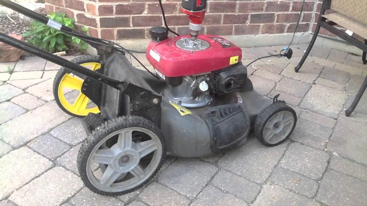 honda blackmax gcv lawnmower drill electric start youtube