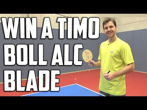 WIN a Timo Boll ALC blade signed by Timo Boll!