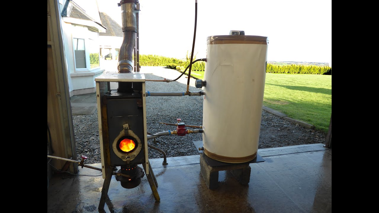 Free hot water and heating from waste oil easy build for Burning used motor oil for heat