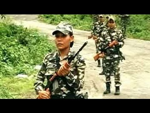 Women security personnel at the open Indo-Bhutan border