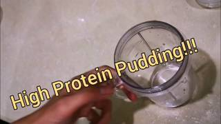 How to Make High Protein Low Calorie Pudding (with herbalife products)