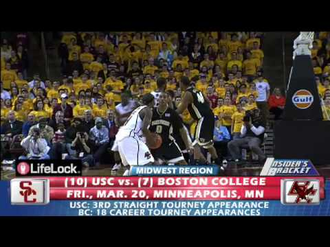 #7 Boston College Eagles vs. #10 USC Trojans - 2009 March Madness Video