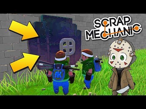 ЗАЛЕЗЛИ В КАНАЛИЗАЦИЮ С МАНЬЯКОМ !!! МУЛЬТИК в Scrap Mechanic !!!