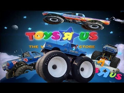 bigfoot monster truck at toys r us youtube. Black Bedroom Furniture Sets. Home Design Ideas