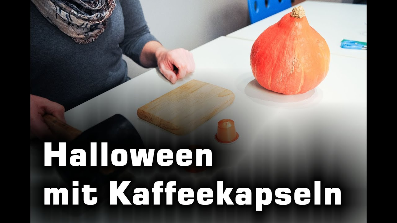 halloween k rbisse mit kaffeekapseln basteln youtube. Black Bedroom Furniture Sets. Home Design Ideas