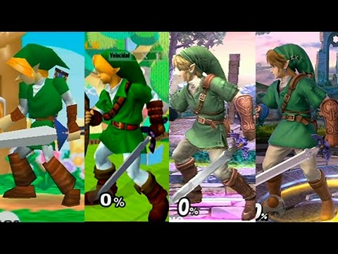 Super Smash Bros Wii U | Link Evolution