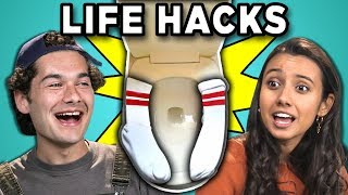 10 Life Hacks You Need To Know With College Kids #2 (React)