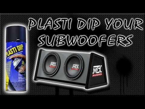 How To Plasti Dip Subwoofers