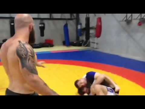 Black belt shows new student who the boss is