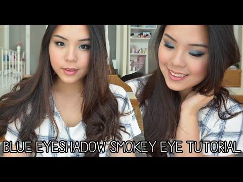 Dramatic Blue Smokey Eye Makeup Tutorial for Asian Eyes