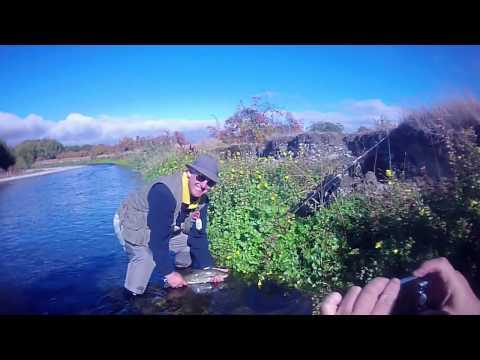 Bob and George Fly Fishing Twizel March 2014