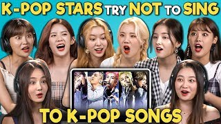 K Pop Stars React To Try Not To Sing Challenge Momoland 모모랜드