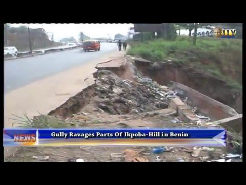 Gully ravages parts of Ikpoba-Hill in Benin