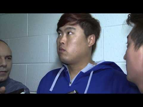 2014 NLDS Game3 Hyun Jin Ryu Interview Oct 6