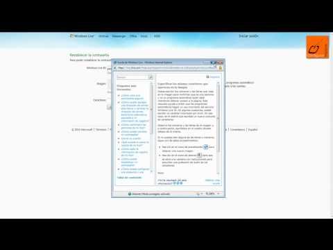 Recuperar contraseña Hotmail Messenger (cuenta)