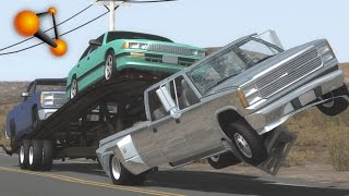 BeamNG.Drive Mod : Gavril Trailer Stepside etc (Crash test)