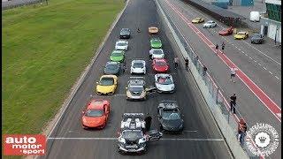 Lamborghini Drag Race! Aventador SVJ vs Urus vs Huracan Performante vs Huracan Evo