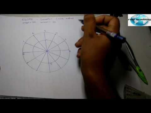 [hindi] Engineering drawing : Ellipse by concentric method