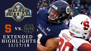 Syracuse vs. Notre Dame   EXTENDED HIGHLIGHTS   11/17/18   NBC Sports