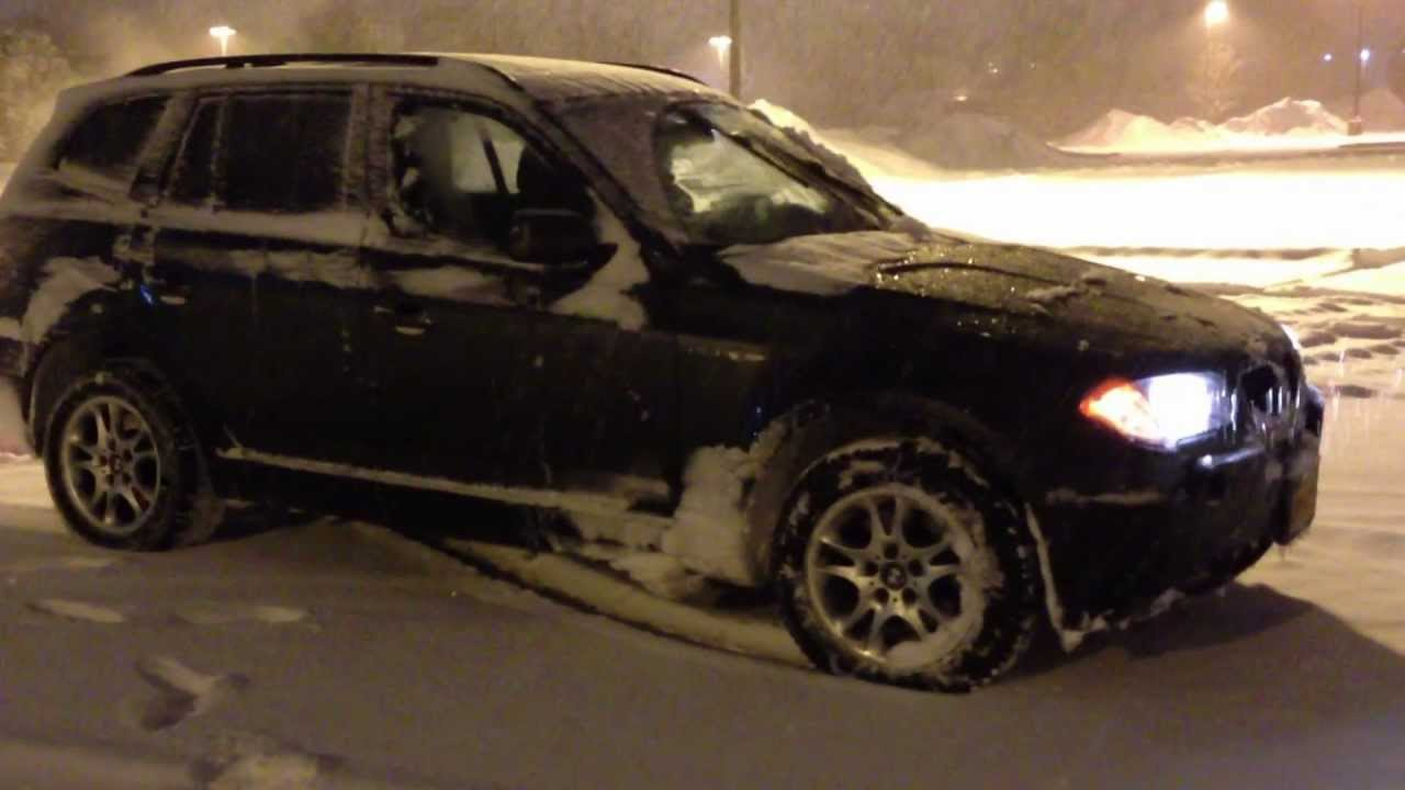 bmw x3 2004 4x4 in snow youtube. Black Bedroom Furniture Sets. Home Design Ideas