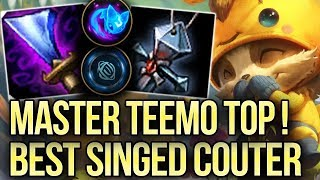 Master Teemo Top! Best Singed Counter Pick! | High Elo Replays