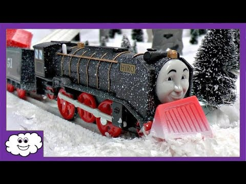 Thomas and Friends Trackmaster Toy Snow Clearing Hiro Sodor Snow Storm