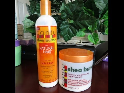 Review & Comparison: Cantu Shea Butter Creamy Hair Lotion vs. Leave-in repair conditioner