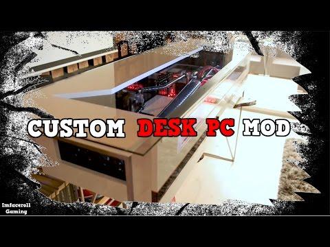 Custom PC desk Draw Mod liquid cooled setup by Damian Dabrowski
