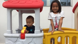 Playground Cinta 😍 Memupuk rasa cinta antara Kakak Adik melalui permainan - staycation part III