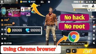 How to get Free unlimited daimonds in free fire using Chrome browser | 1000% working |