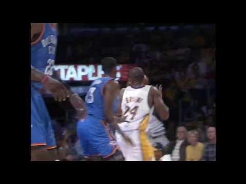 Kobe Hits From Behind The Backboard