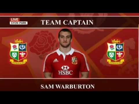 Lions 2013 Squad and captain announcement