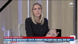 Laura Ferreira presta homenagem a Ricardo Boechat